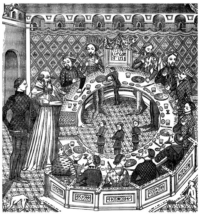 Le mythe d 39 arthur de la table ronde et du graal - La table ronde du roi arthur ...