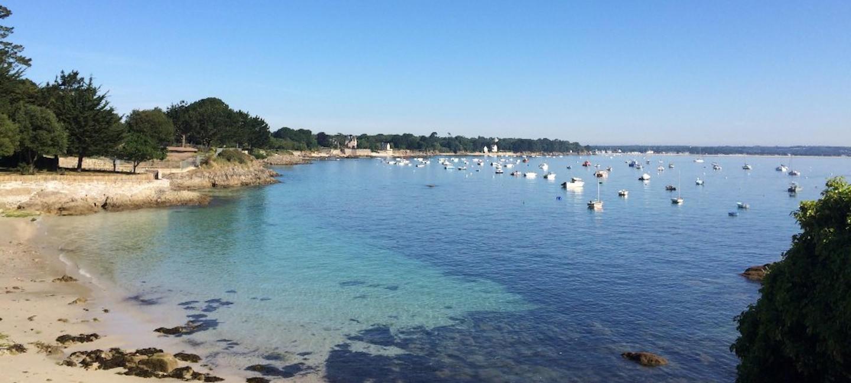 Plage des oiseaux à Beg Meil, dans le Finistère Sud